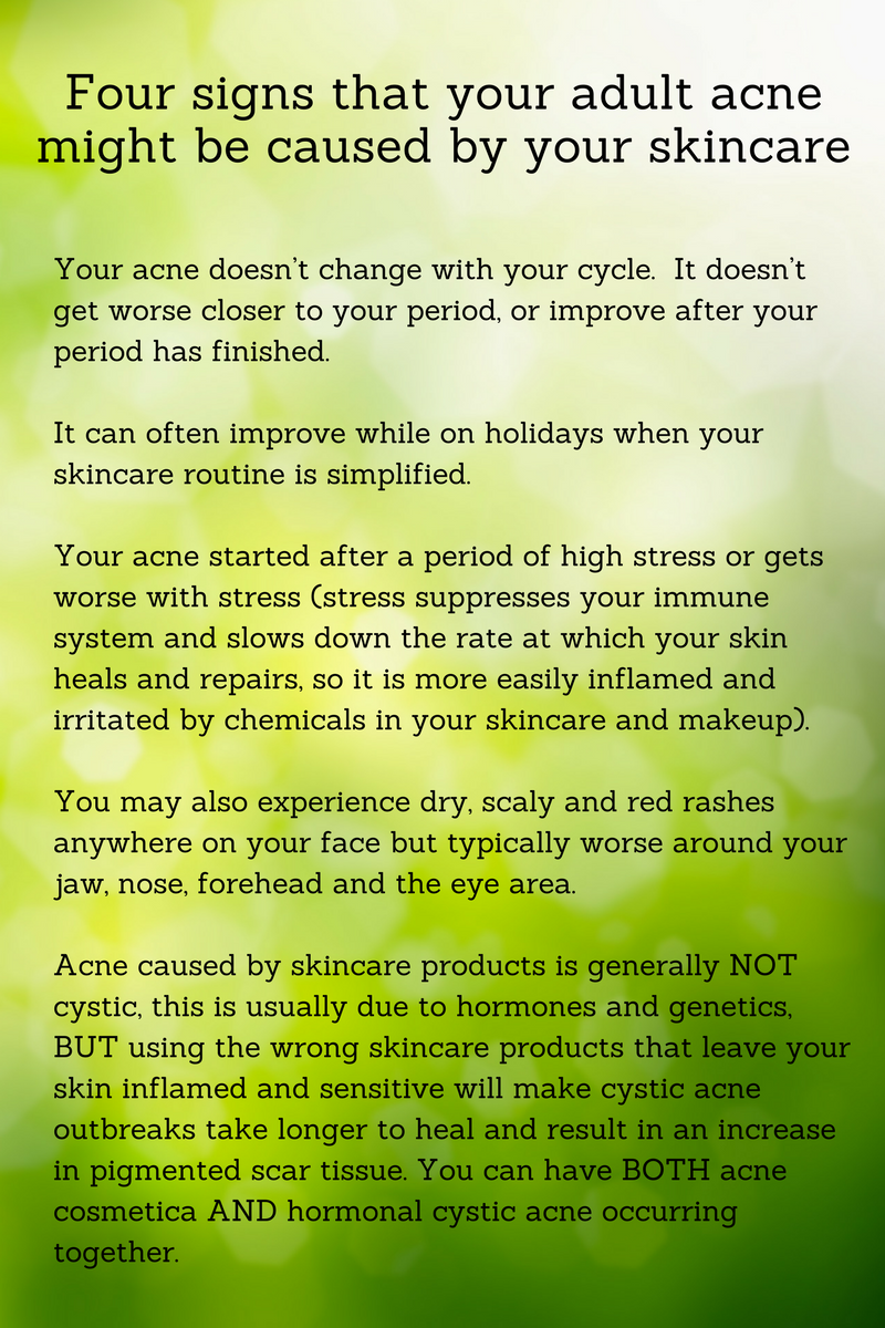 4 signs adult acne skincare