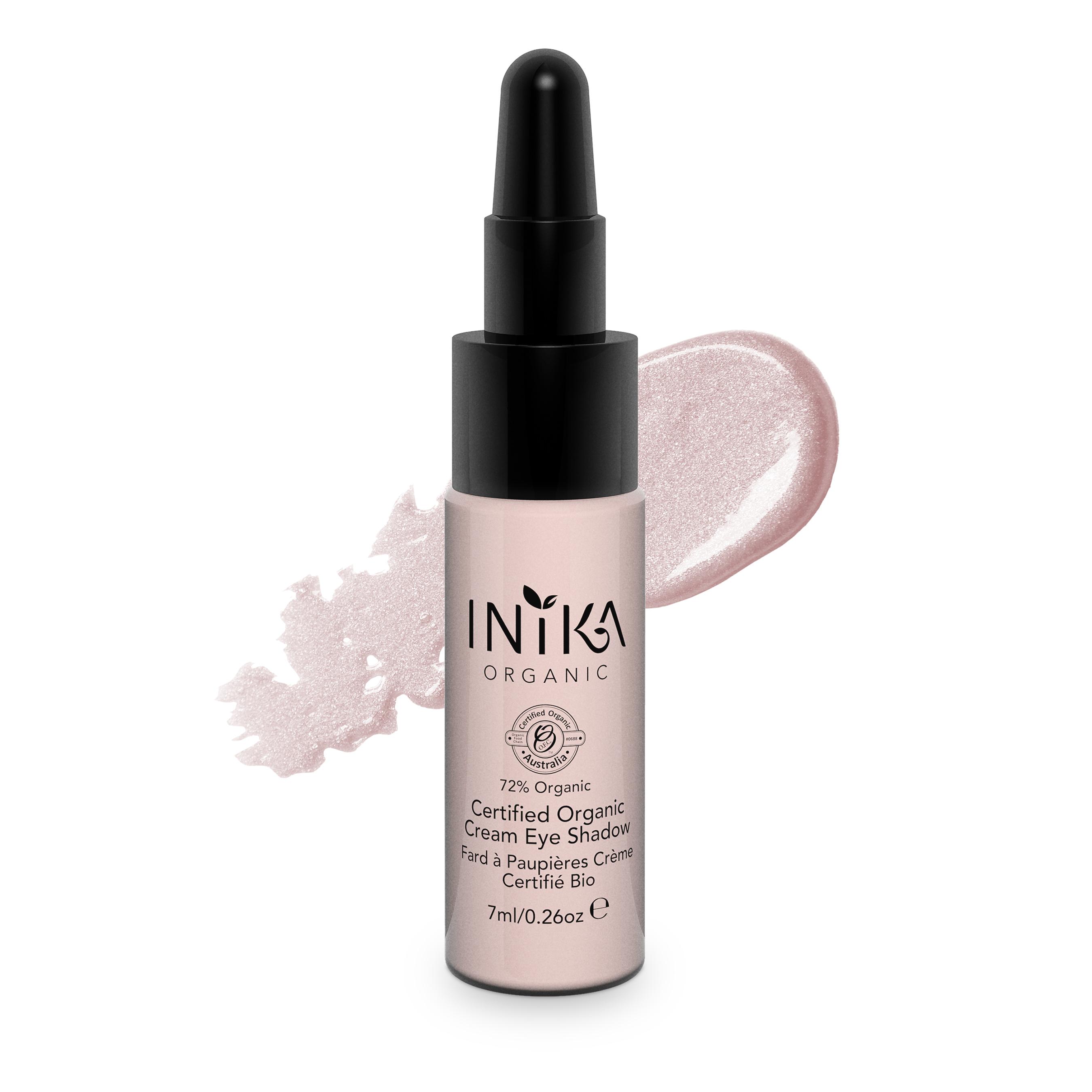 INIKA Certified Organic Cream Eye Shadow 7ml Pink Cloud With Product