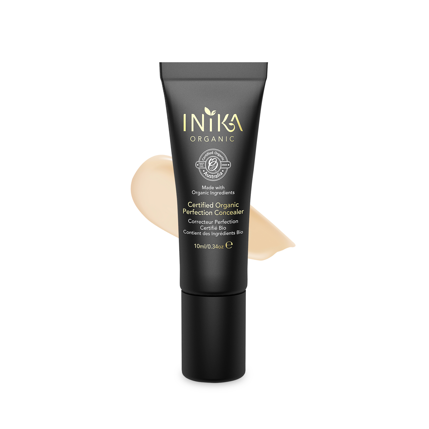 INIKA Certified Organic Perfection Concealer Light 10ml With Product