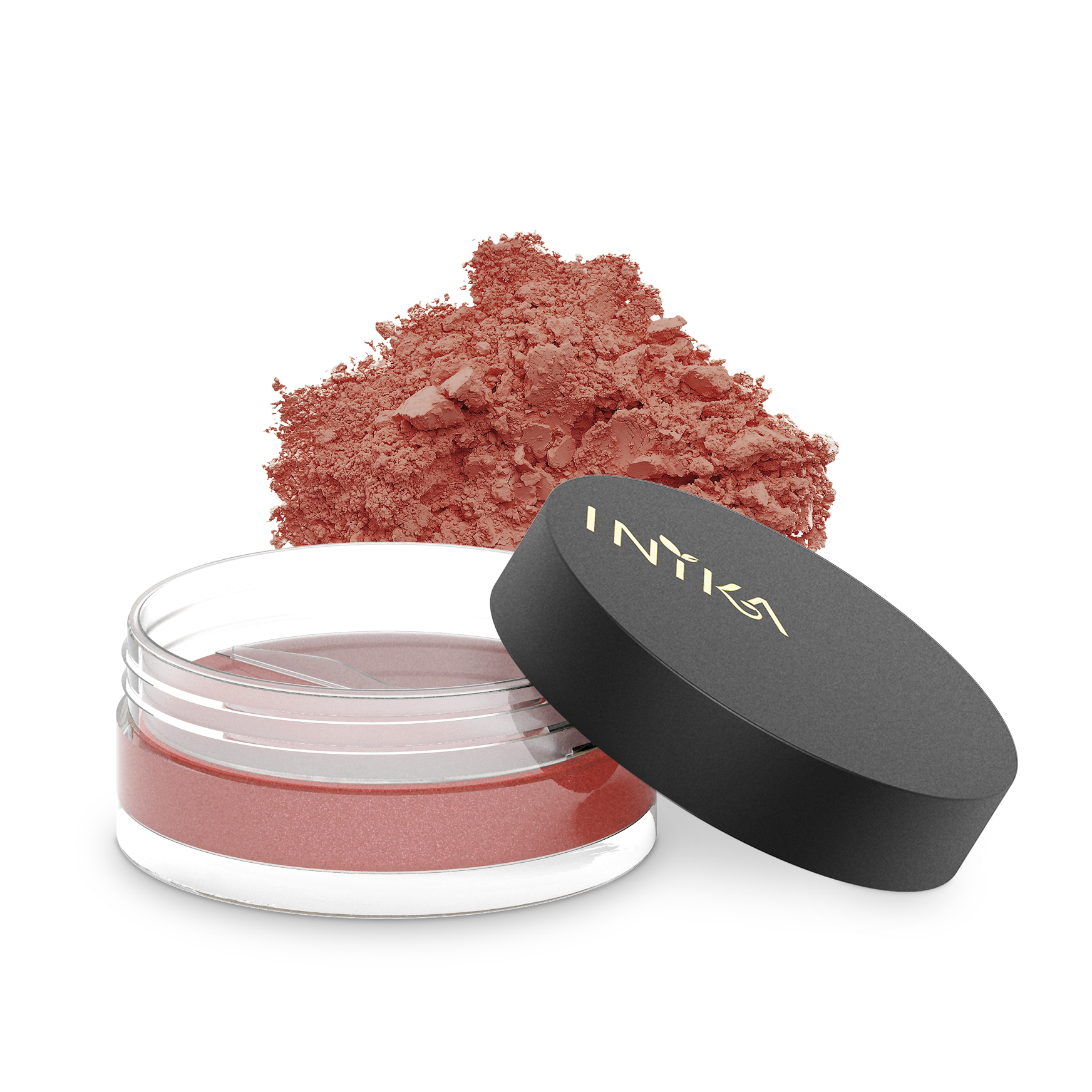 INIKA Loose Mineral Blush 3.5g Peachy Keen With Product